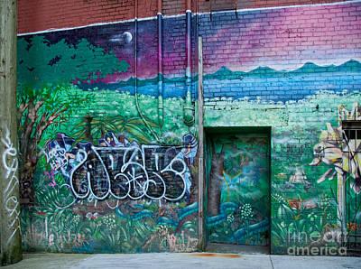 Digital Art - Graffiti Wall by Carol Ailles