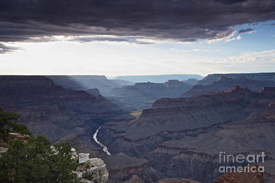 Clouds Over Canyon Photograph - Grand Canyon As Seen From Mohave Point by Terry Moore