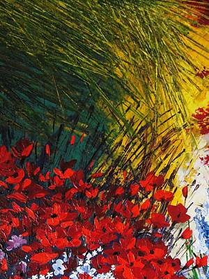 Pallet Knife Painting - Grass by Shilpi Singh