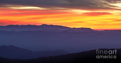 Mountians Photograph - Great Smokie Mountains Sunset by Dustin K Ryan