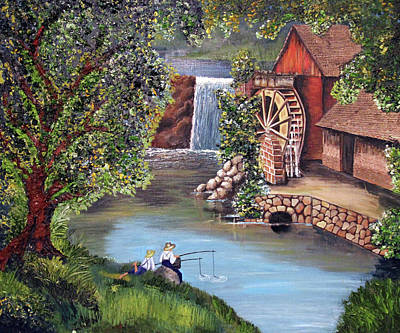 Gristmill Painting - Gristmill Afternoon by Ann Iuen