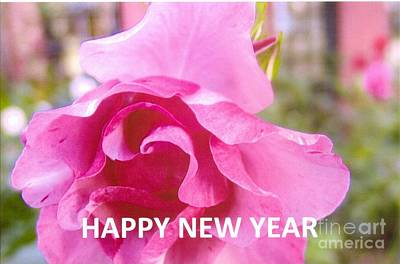 Photograph - Happy New Year Card by Rod Ismay