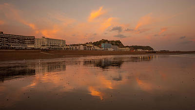 Burnt Pier Photograph - Hastings Sunset by Dawn OConnor