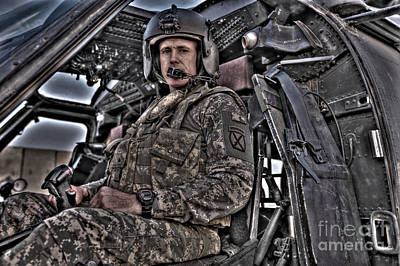 Photograph - Hdr Image Of A Pilot Sitting by Terry Moore