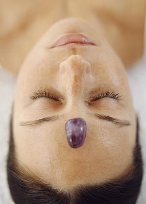 Oriental Woman Photograph - Healing Crystal by Cristina Pedrazzini