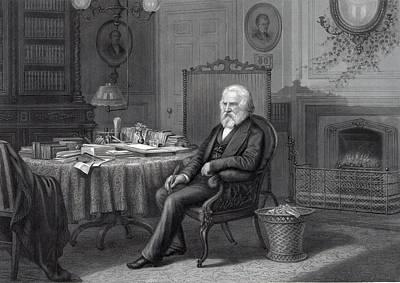 Henry Wadsworth Longfellow 1807-1882 Art Print by Everett
