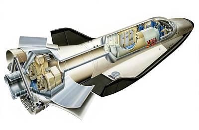 Hermes Wall Art - Photograph - Hermes Space Shuttle, Artwork by David Ducros