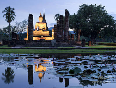 Historical Temple Park In Thailand. Art Print by Anek Suwannaphoom