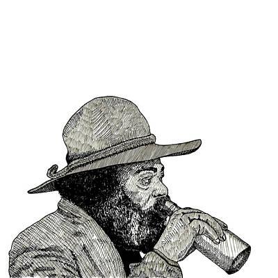 Homeless Drawing - Homeless Man by Karl Addison