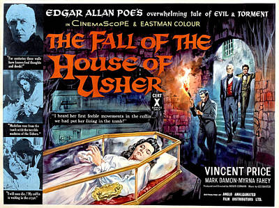 House Of Usher, Aka The Fall Of The Art Print