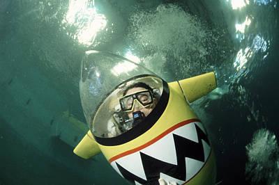 Underwater Breathing Photograph - Human-powered Submarine by Alexis Rosenfeld