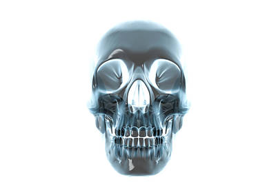 Fused Photograph - Human Skull, Computer Artwork by Robert Brocksmith