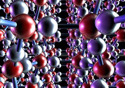 Ice, Molecular Model Art Print by Animate4.comscience Photo Libary