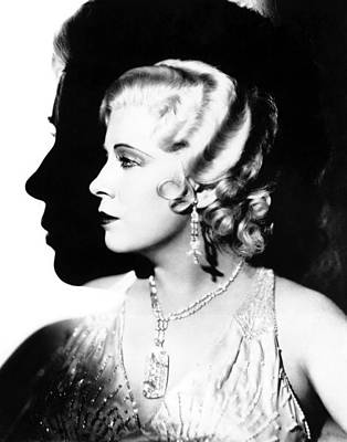 Profile Shadow Photograph - Im No Angel, Mae West, 1933 by Everett
