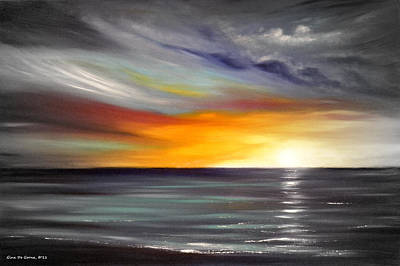 Sunset Painting - In The Moment by Gina De Gorna