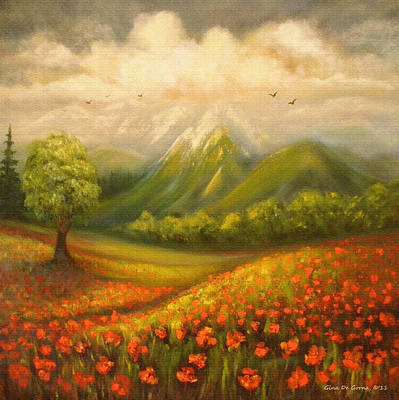 Painting - In The Old Mountains by Gina De Gorna