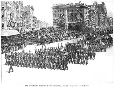 Inauguration Day Photograph - Industrial Parade, 1889 by Granger