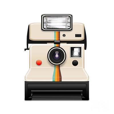 Instant Camera With A Blank Photo Art Print by Setsiri Silapasuwanchai