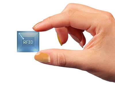 Intelligent Label Chip Art Print by Pasieka