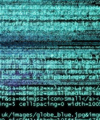 Internet Computer Code Art Print by Christian Darkin