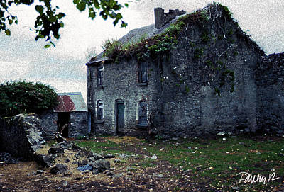 Digital Art - Ireland Series - Abandoned Farmhouse by Jim Pavelle