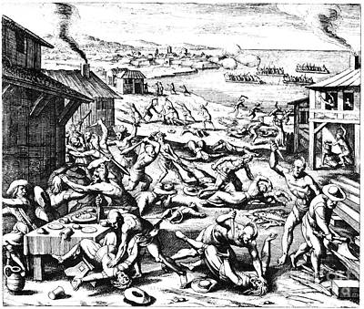 Jamestown: Massacre, 1622 Print by Granger