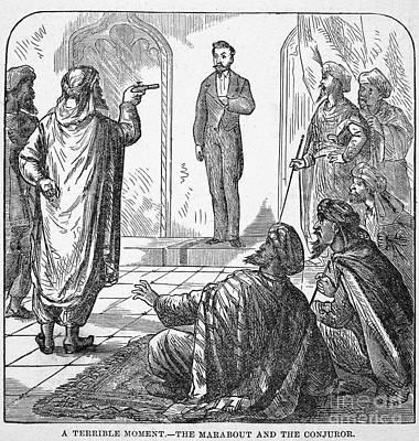 Conjurers Photograph - Jean Eugene Robert Houdin by Granger