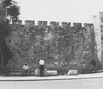 Jerusalem City Wall, Historic Site Art Print by Photo Researchers