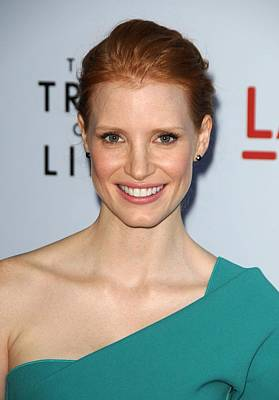 Jessica Chastain At Arrivals For The Art Print