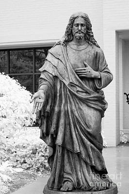 Jesus - Christian Art - Religious Statue Of Jesus Art Print by Kathy Fornal