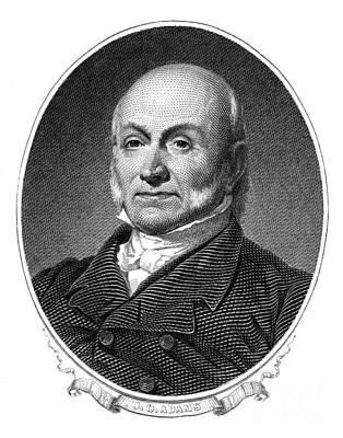John Quincy Adams Art Print by Granger
