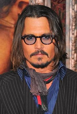 Johnny Depp At Arrivals For The Tourist Art Print by Everett