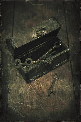 Casket Photograph - Keys by Joana Kruse