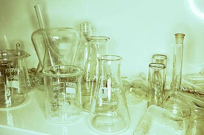 Stopper Photograph - Laboratory Glassware by Colin Cuthbert