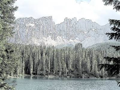 Lake Carezza Dolomites Italy  Art Print by Joseph Hendrix