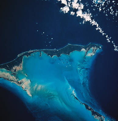 Blue Photograph - Landscape Of Earth Viewed From Space by Stockbyte