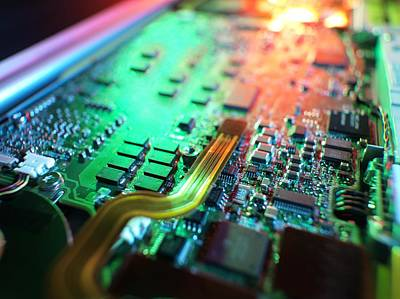 Laptop Circuit Board Art Print