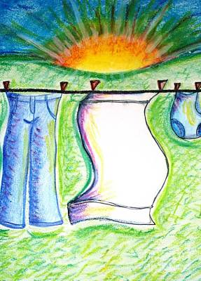 Laundry Day Art Print by Susan George