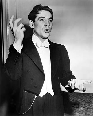 Leonard Bernstein 1918-1990 American Art Print