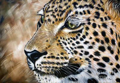Leopard Art Print by Ilse Kleyn