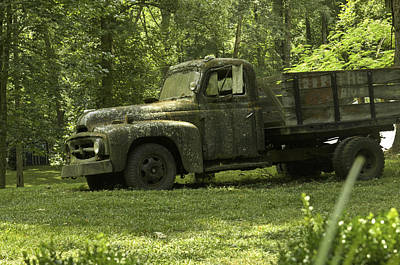 Lichen Covered Truck Art Print