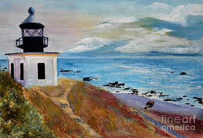 Painting - Lighthouse by Sibby S