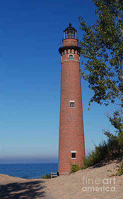 Photograph - Little Sable Point Lighthouse by Grace Grogan