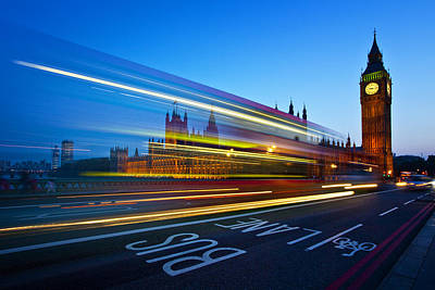 Big Ben Wall Art - Photograph - London Big Ben by Nina Papiorek