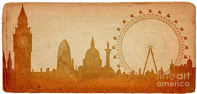 London Skyline Art Print by Michal Boubin