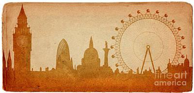 Belfry Digital Art - London Skyline by Michal Boubin