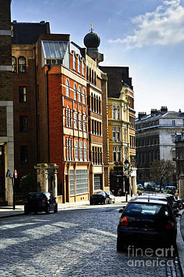 Transportation Royalty-Free and Rights-Managed Images - London street by Elena Elisseeva