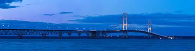 Michigan Mackinac Photograph - Mackinac Bridge In Evening by Twenty Two North Photography