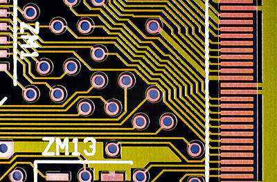 Macrophotograph Of A Circuit Board Art Print by Dr Jeremy Burgess