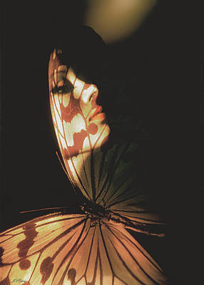 Limited Edition Photograph - Madam Butterfly Card by John Neville Cohen